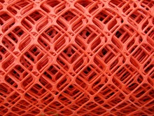Rolls Of Plastic Fence Mesh / Safety  Warning Net