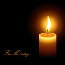 In Memory Mourning Candle Ligh...