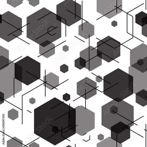 szesciokata-bezszwowy-technika-wzor-ilustracji-wektorowych