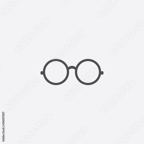 Fényképezés  round glasses icon