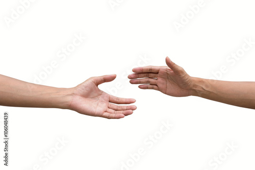 Fotomural  couple of helping/praying hand black background,support/ aid/love/trust concept