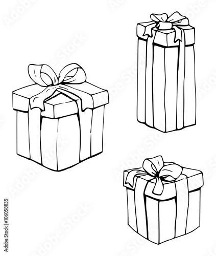 Kleurplaat Vrijstaande Cadeaus Buy This Stock Illustration And