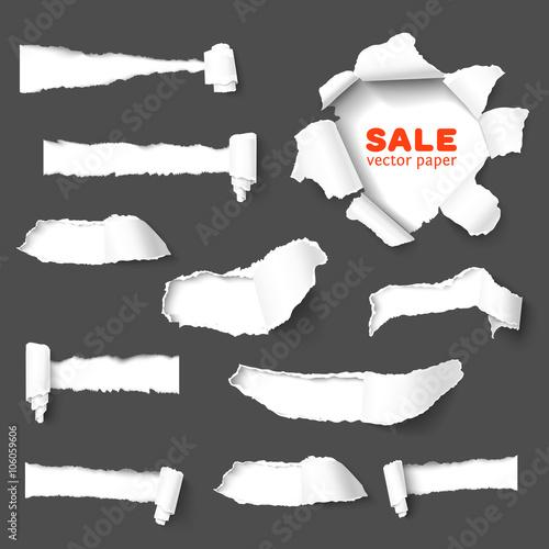 Fotografía  Big collection of torn paper