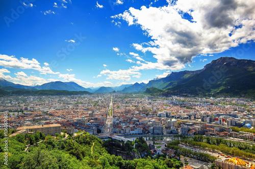 Fotografie, Obraz  Grenoble depuis la bastille
