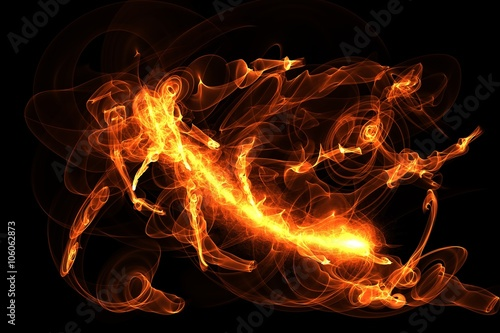 Fototapety, obrazy: Fire Flames special effect