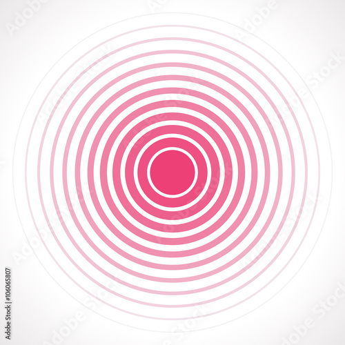 Fotografía  Concentric circle elements. Vector illustration for sound