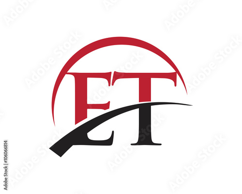 Photo  ET red letter logo swoosh