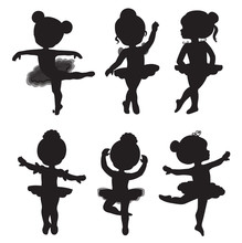 Vector Set Of Silhouettes Of L...