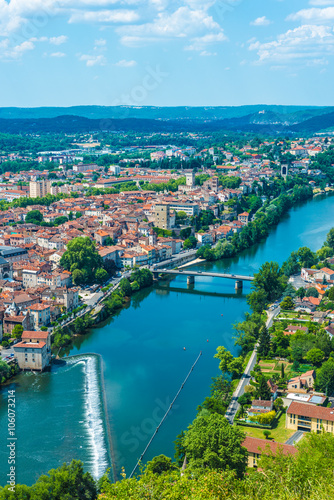 Foto op Aluminium Kust Cahors from Mont Saint Cyr in Lot, France.