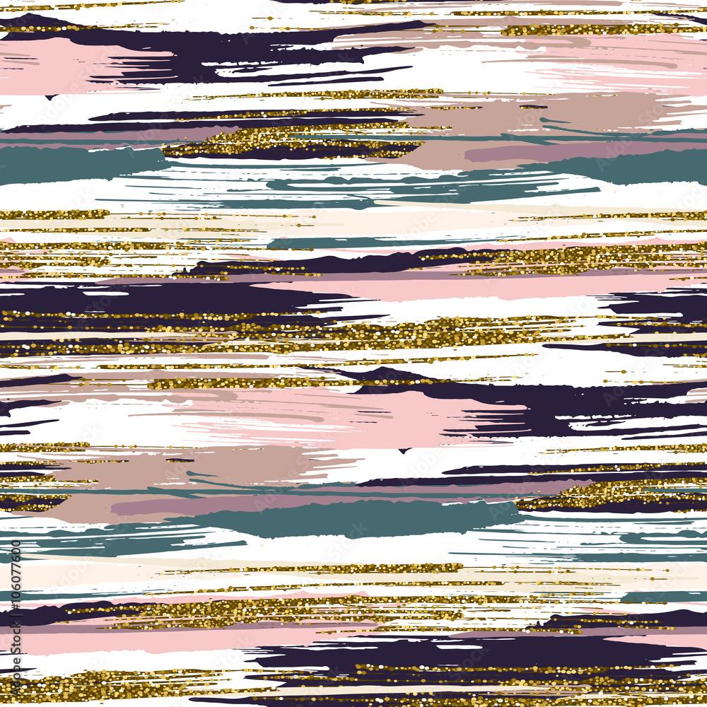 Kolorowy wzór ze złocistymi odblaskami