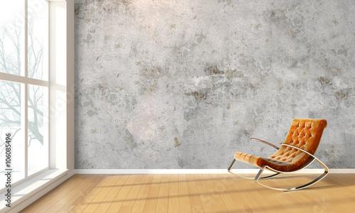 Fotografija  Modern bright interior . 3D render