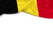 canvas print picture - Belgien Banner