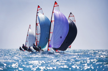 Fototapeta sailing regatta