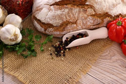 fototapeta na drzwi i meble Pieczywo i warzywa