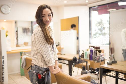 Fotografie, Obraz  Portrait of female hairdresser