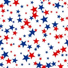 Patriotic American Vector Seam...