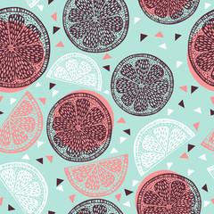 Fototapeta samoprzylepna Citrus pattern graphics
