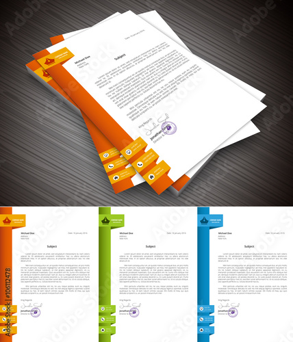 Fototapeta This is simple and creative letterhead for business and personal purpose usages.File contains text editable AI, EPS10,JPEG and free font link. obraz