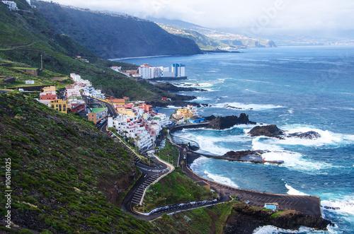 Fotografia  Beautiful landscape near  El Pris, in the North of Tenerife island, Canary islan