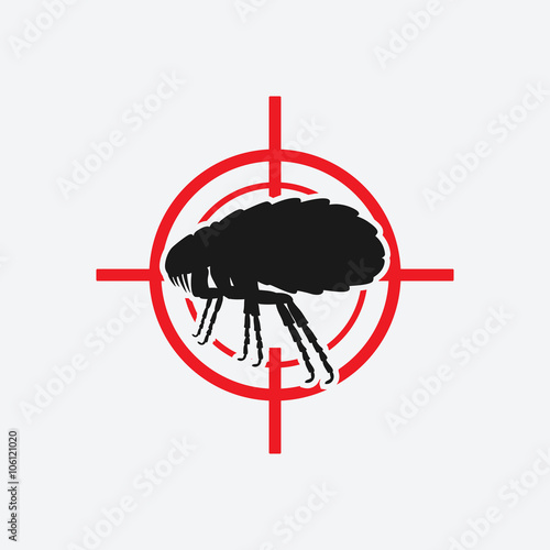 Fotografie, Tablou  flea icon red target