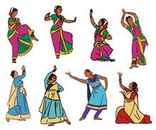Vector Indian Dancers
