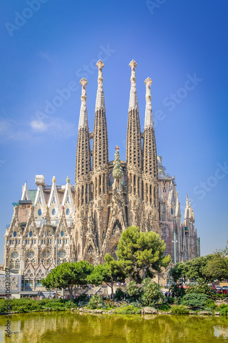 Sagrada familia, Barcelona. Retro-style
