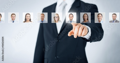 Photo  human resources, career and recruitment concept