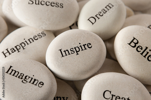 Obraz na plátně Inspirational stones - Inspire