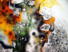 Farbig, Bunte Und Abstrakte Farbmalerei In Fluessigkeit Gemischt