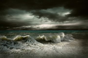 Plakat View of storm seascape