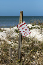 Stay Out Of Dunes Sign