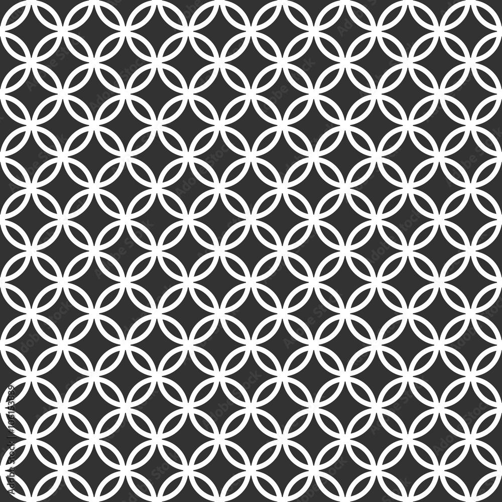 Photo Art Print Sfondo Pattern Cerchi Bianco E Nero Europosters