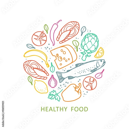 Fotografie, Obraz  Healthy food