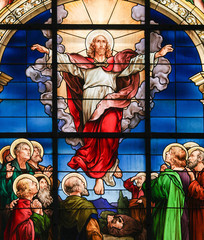 NaklejkaAscension of Christ - Stained Glass