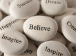 canvas print picture - Inspirational stones - Believe