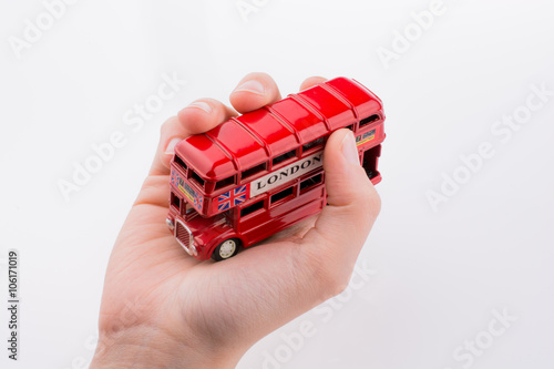 London Bus in hand Poster