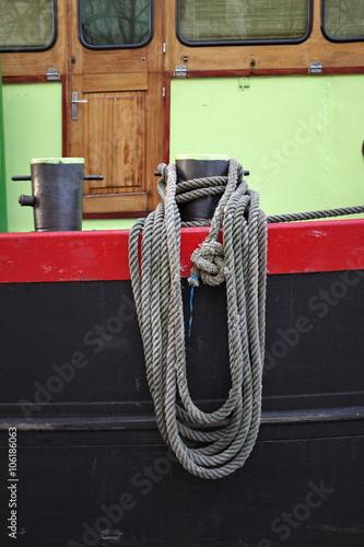 Fotografie, Obraz  Cordage enroulé sur un bateau