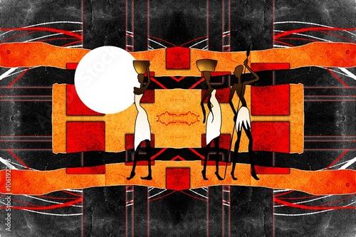 afrykanski-etniczne-retro-vintage