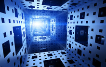Menger Sponge Background