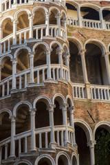 Fototapeta Venice famous architecture landmark Palazzo Contarini del Bovol