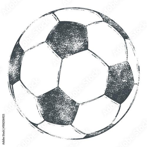 Fotografie, Obraz Soccer Ball / Football - Grunge Look