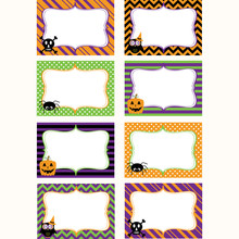 Halloween Printable Labels Set...