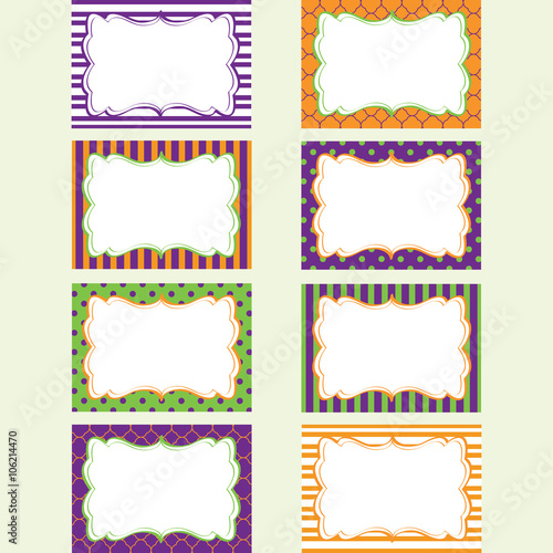 Halloween Printable Labels Set Tags Photo Frame Gift Tags Scrap Booking Card Making Invitation Buy This Stock Vector And Explore Similar Vectors At Adobe Stock Adobe Stock