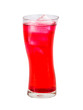 Red beverage drink isolated
