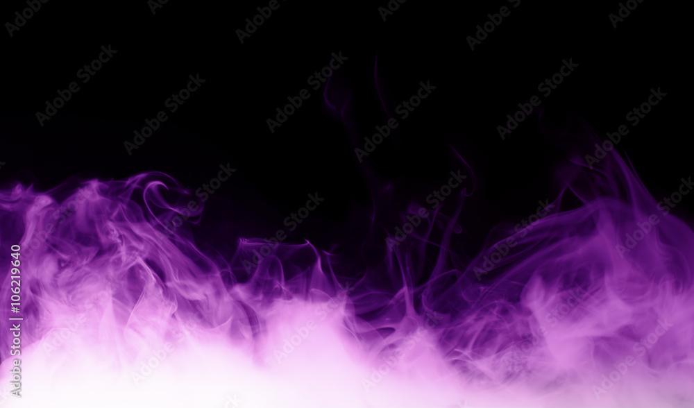 Fototapety, obrazy: purple steam on the black background