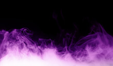 Purple Steam On The Black Background
