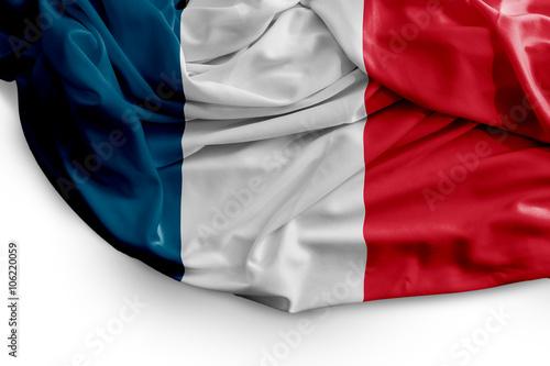 Fototapeta French flag on white background