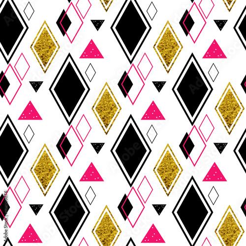 geometryczny-wzor-powtarzalny-w-kolorach-czarny-bialy-rozowy-zloty-brokat