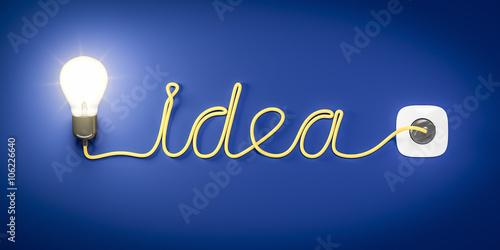 Fotografie, Obraz light bulb cable idea