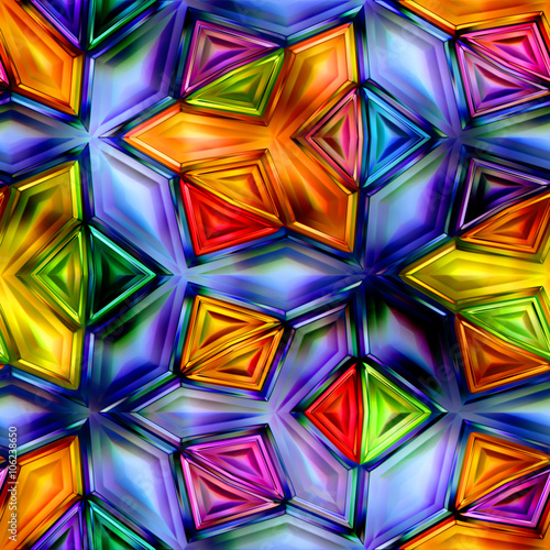 Fototapeta abstrakcyjne kolorowe kształty